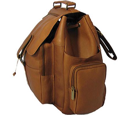 David King Leather 330 Top Handle XL Backpack, Cafe, large, image 2