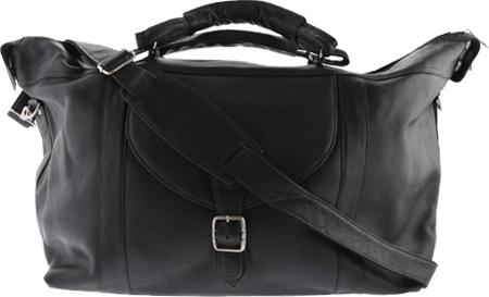 David King Leather 303 Top Zip Travel Bag, Black, large, image 1