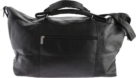 David King Leather 303 Top Zip Travel Bag, Black, large, image 2