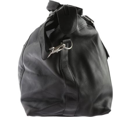 David King Leather 303 Top Zip Travel Bag, Black, large, image 3