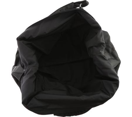 David King Leather 303 Top Zip Travel Bag, Black, large, image 4