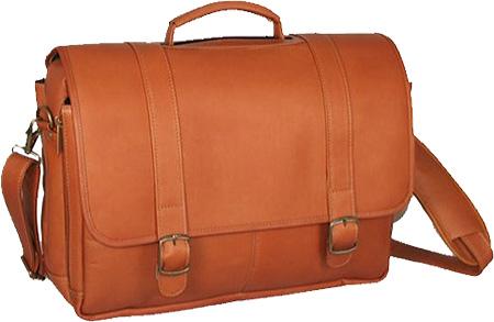 David King Leather 142 Porthole Laptop Briefcase, Tan, large, image 1