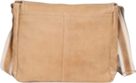 David King Leather 6152 Medium Distressed Laptop Messenger Bag, Tan, large, image 2