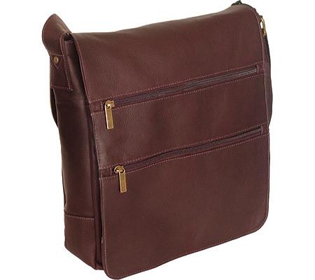 David King Leather 167 Laptop Messenger Bag, Cafe, large, image 1