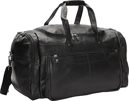 David King Leather 6654 Extra Large Promotional Duffel, Black, large, image 1