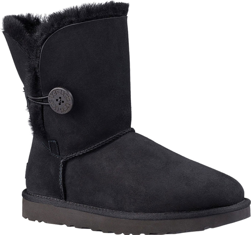 Women's UGG Bailey Button II Boot, Black 2, large, image 1