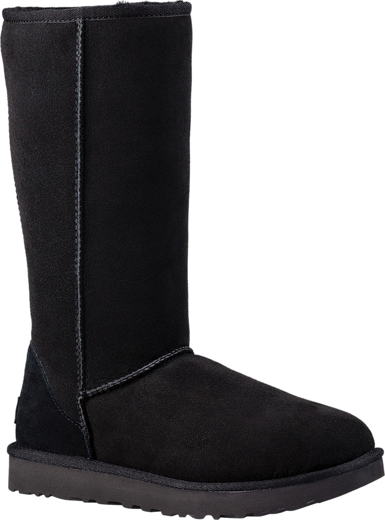 Women's UGG Classic Tall II Boot, Black 2, large, image 1