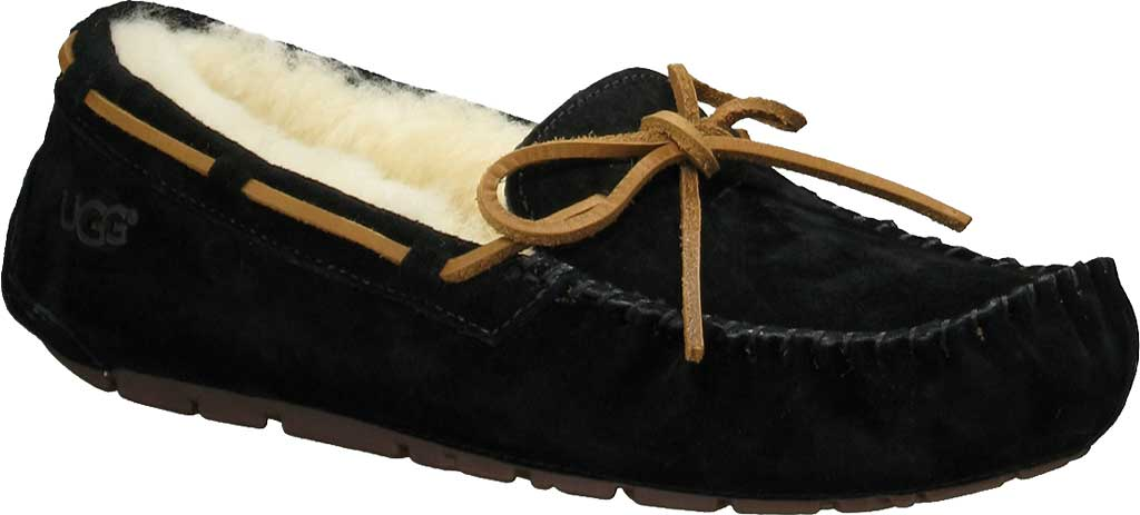 Women's UGG Dakota Slipper, Black, large, image 1