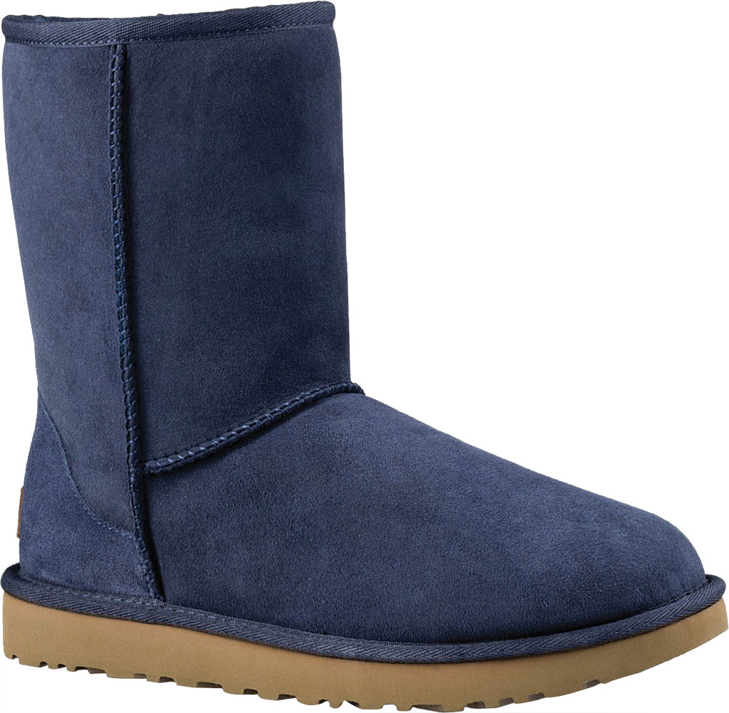 Women's UGG Classic Short II Boot, Navy 2, large, image 1