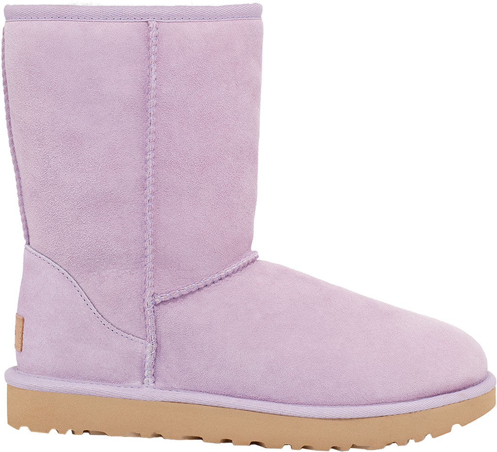 Women's UGG Classic Short II Boot, Lilac Frost Twinface Sheepskin, large, image 1