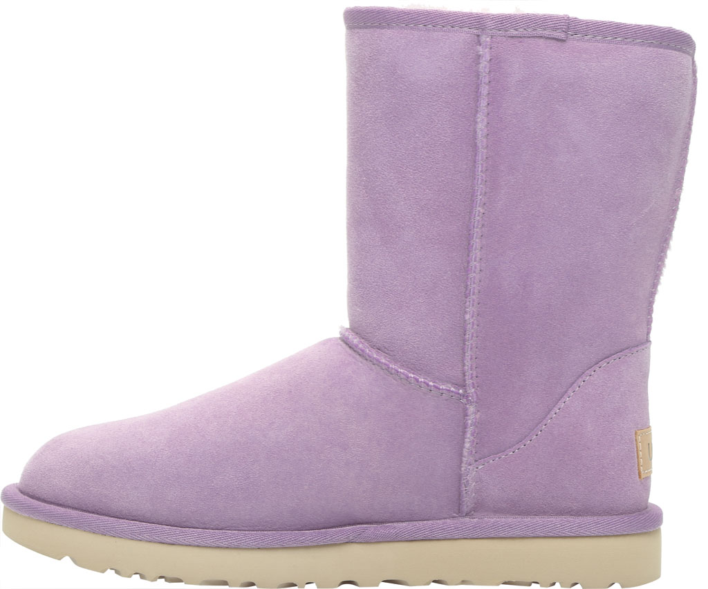 Women's UGG Classic Short II Boot, Lilac Frost Twinface Sheepskin, large, image 3