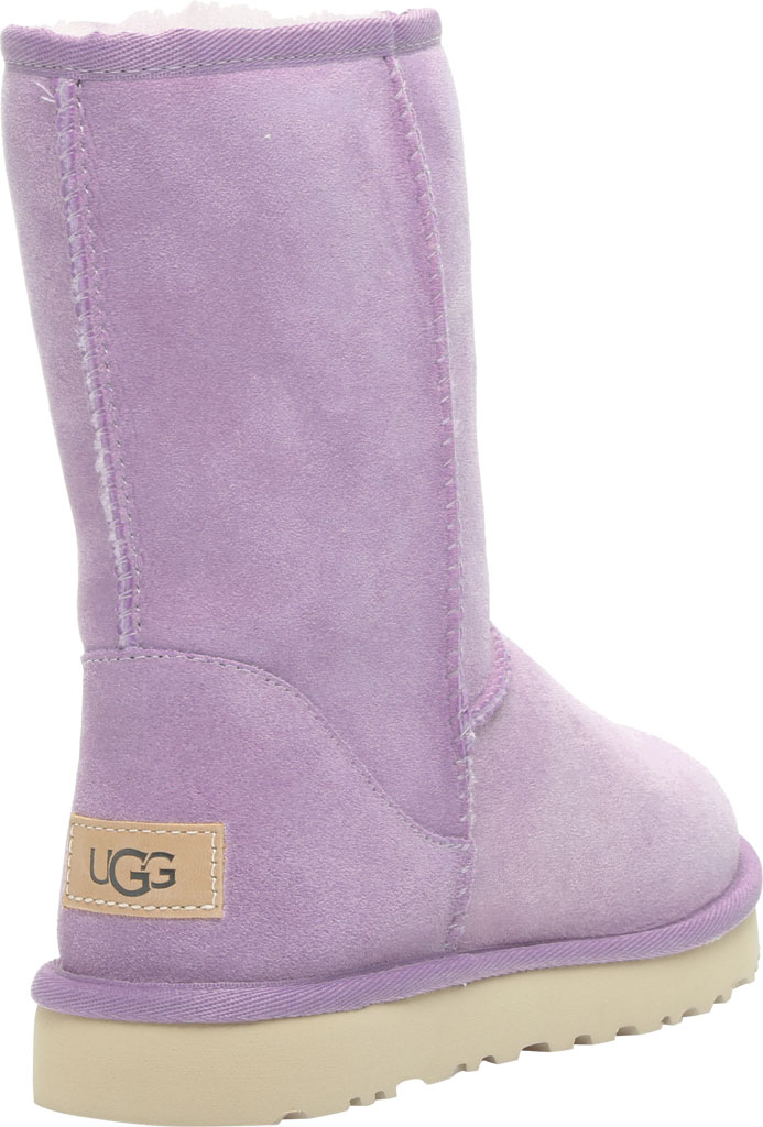 Women's UGG Classic Short II Boot, Lilac Frost Twinface Sheepskin, large, image 4