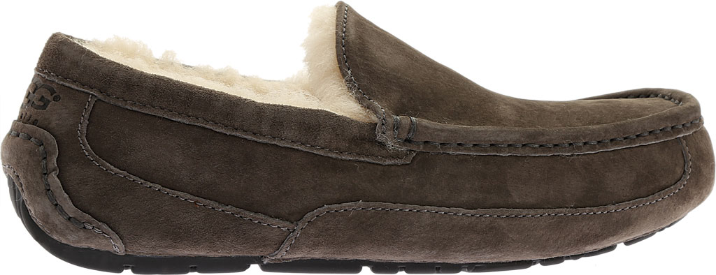 Men's UGG Ascot Suede Slipper, Charcoal, large, image 2