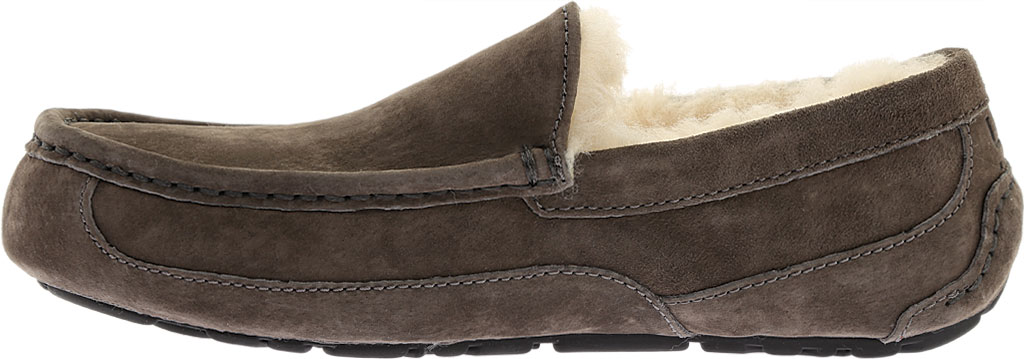 Men's UGG Ascot Suede Slipper, Charcoal, large, image 3