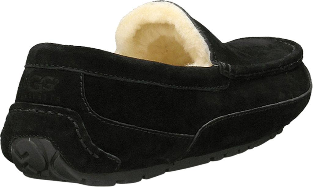 Men's UGG Ascot Suede Slipper, Black Suede, large, image 4