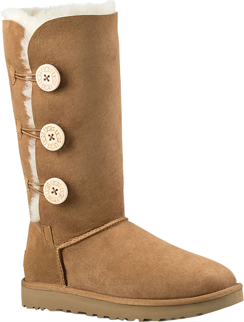 Women's UGG Bailey Button Triplet II Boot, Chestnut 2, large, image 1