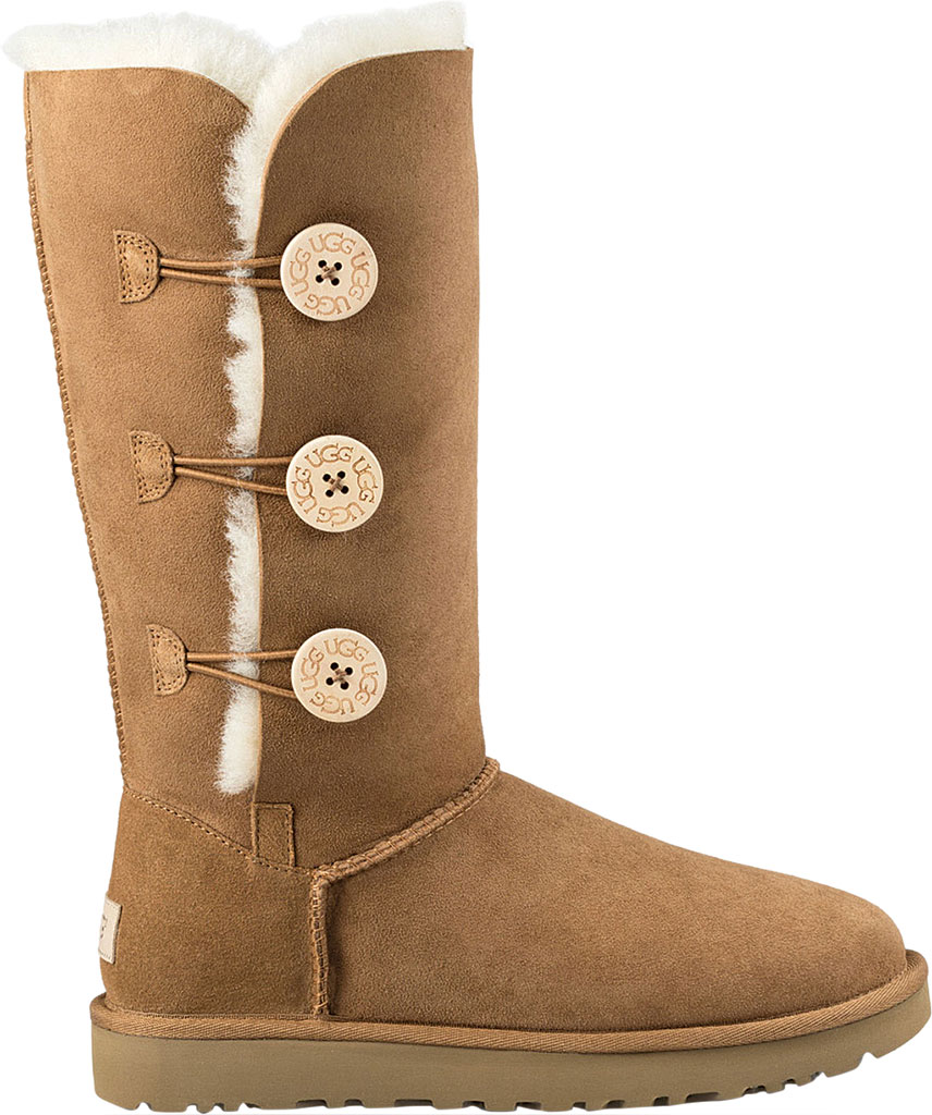 Women's UGG Bailey Button Triplet II Boot, Chestnut 2, large, image 2
