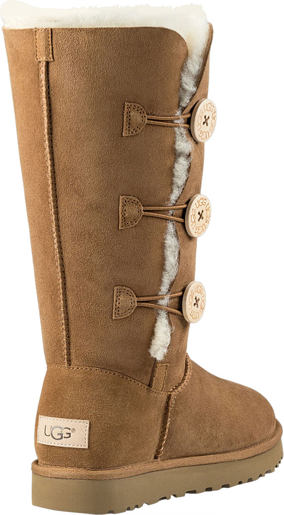 Women's UGG Bailey Button Triplet II Boot, Chestnut 2, large, image 4