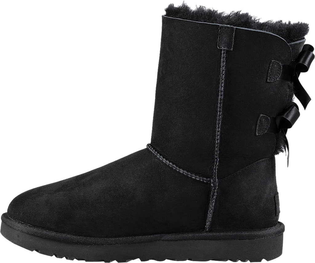 Women's UGG Bailey Bow II Boot, Black 2, large, image 3