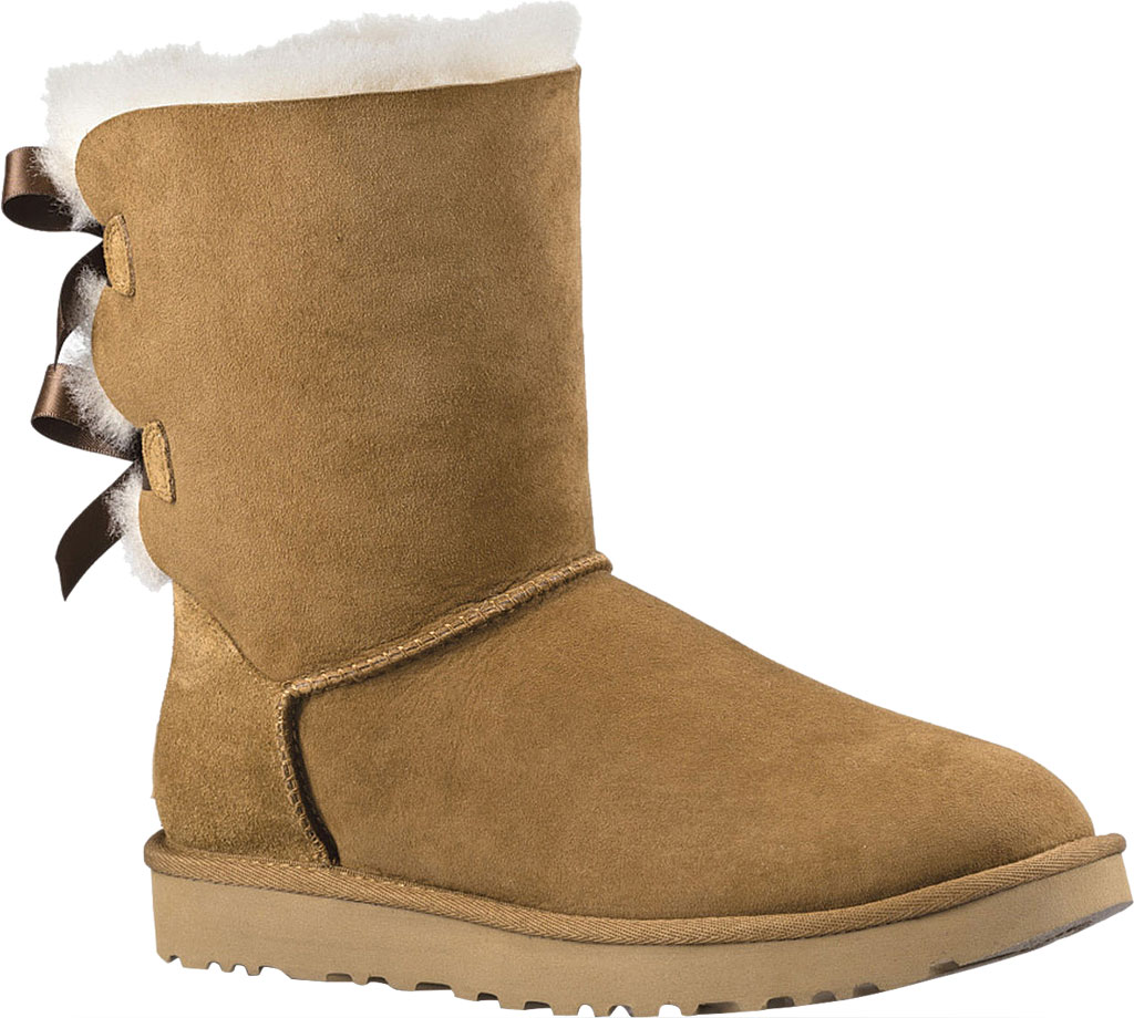 Women's UGG Bailey Bow II Boot, Chestnut 2, large, image 1