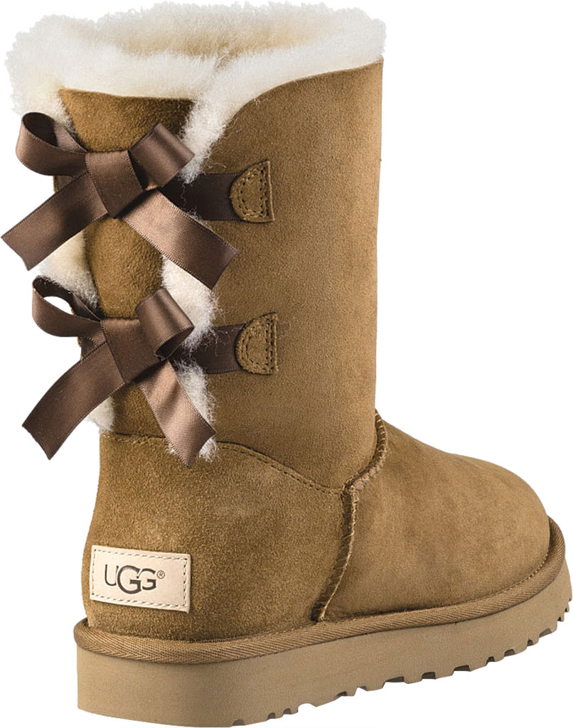 Women's UGG Bailey Bow II Boot, Chestnut 2, large, image 4