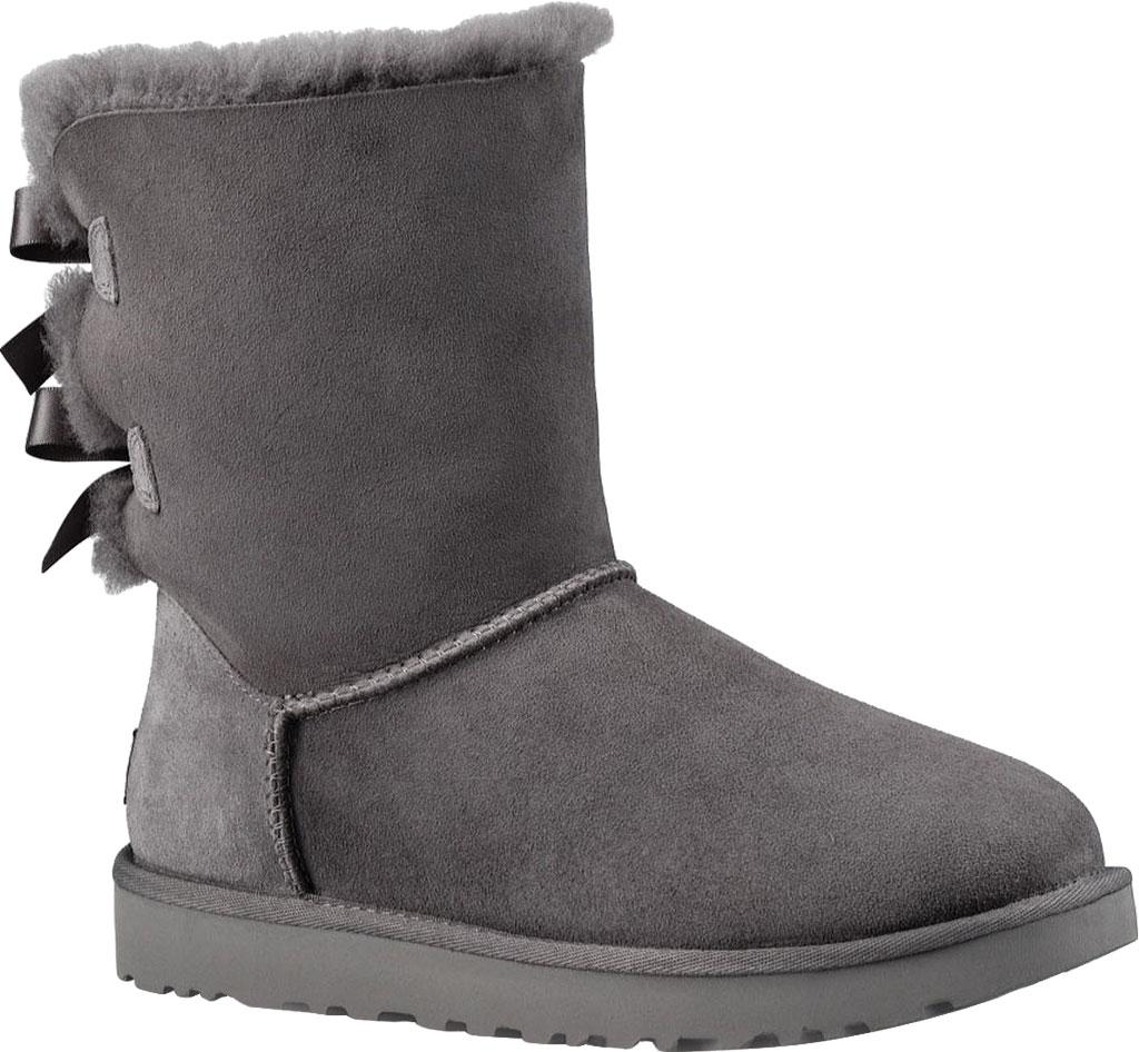 Women's UGG Bailey Bow II Boot, Grey 2, large, image 1
