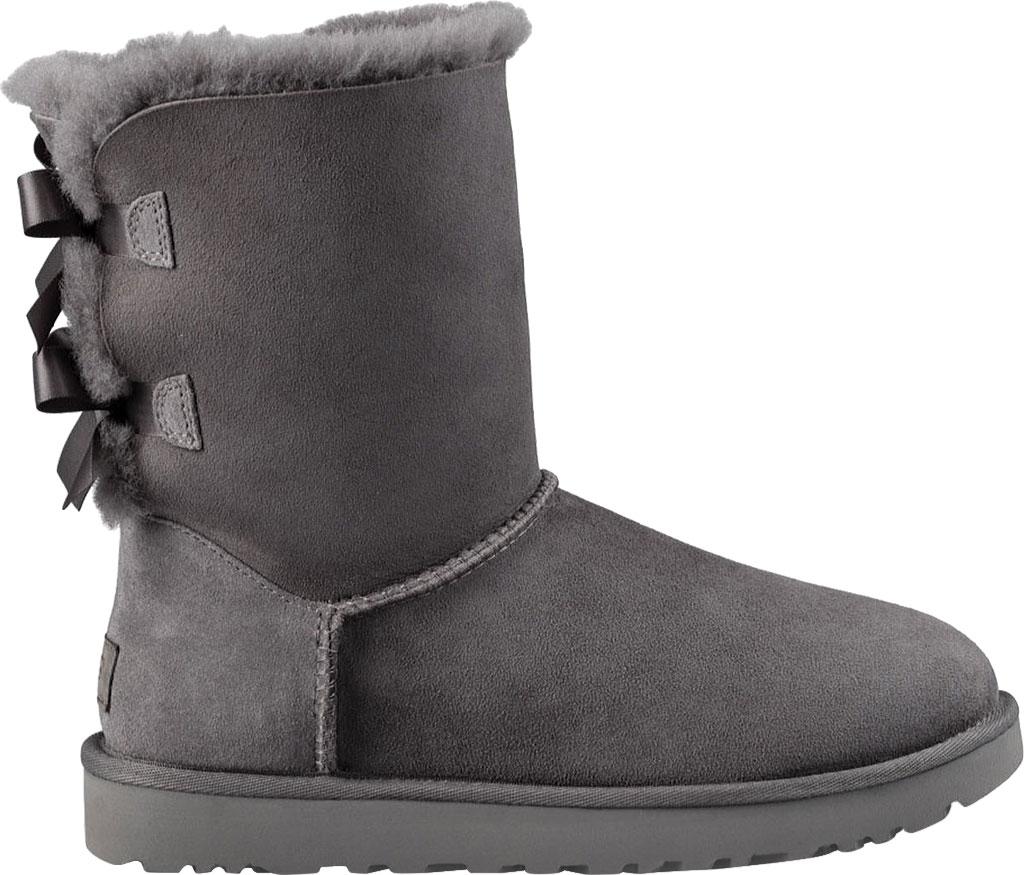 Women's UGG Bailey Bow II Boot, Grey 2, large, image 2