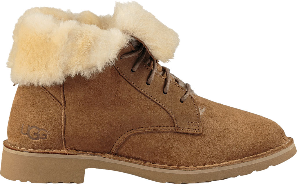Women's UGG Quincy Lace Up Boot, Chestnut, large, image 2