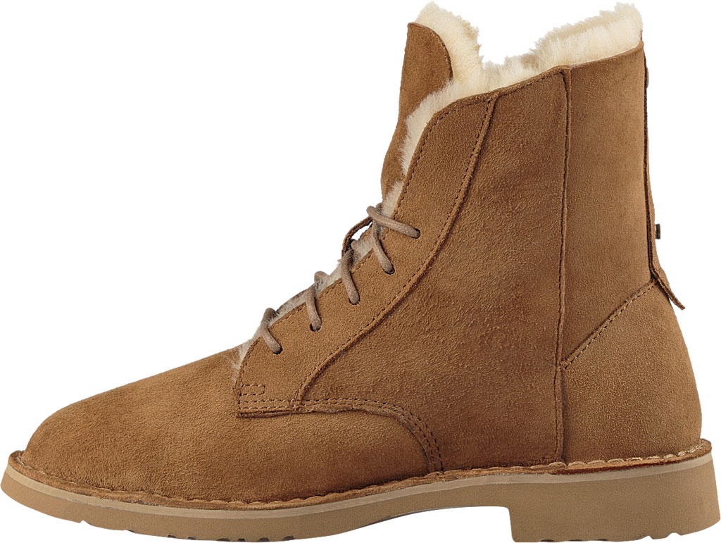 Women's UGG Quincy Lace Up Boot, Chestnut, large, image 3