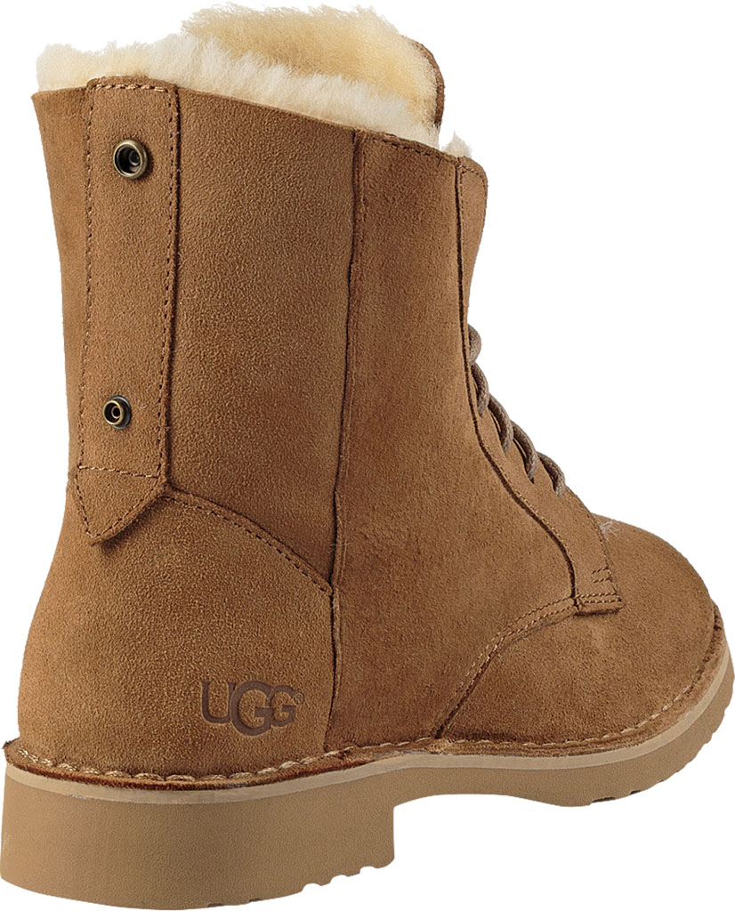 Women's UGG Quincy Lace Up Boot, Chestnut, large, image 4