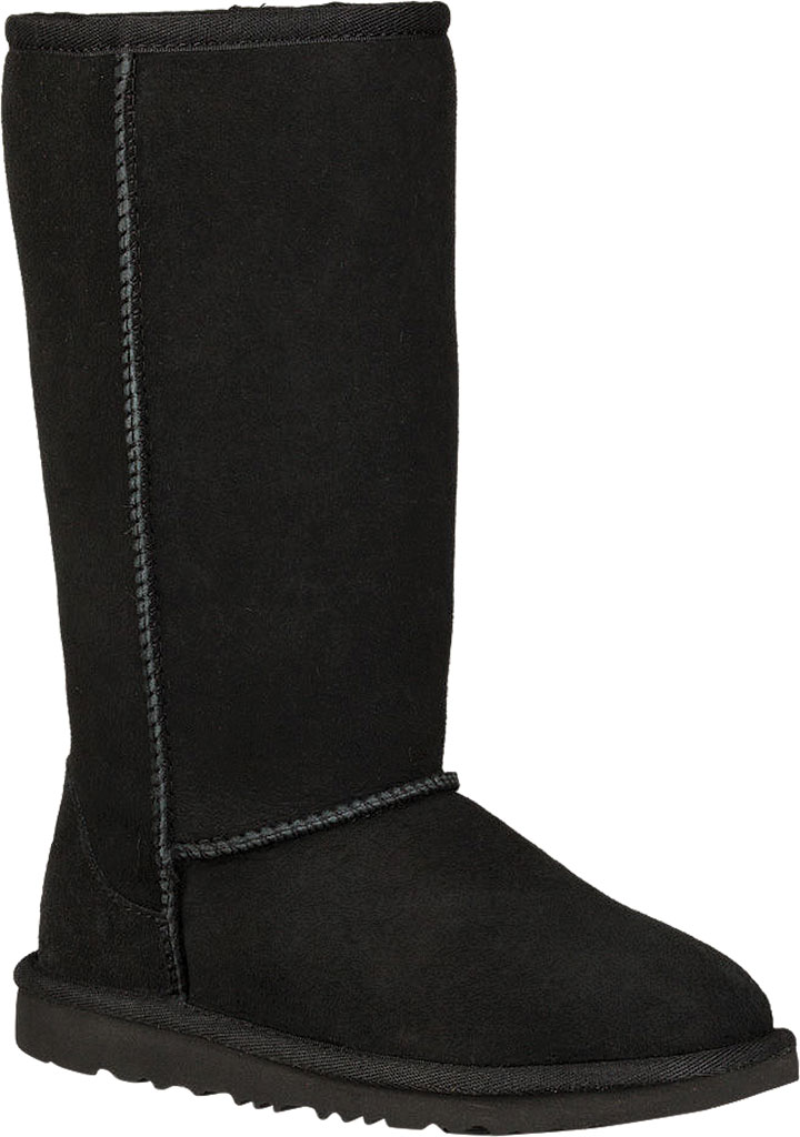Children's UGG Classic Tall II Kids Boot, Black Twinface, large, image 1
