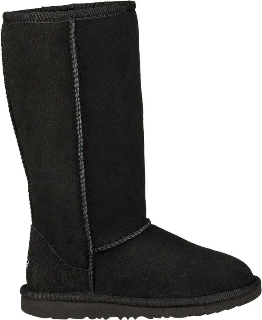 Children's UGG Classic Tall II Kids Boot, Black Twinface, large, image 2