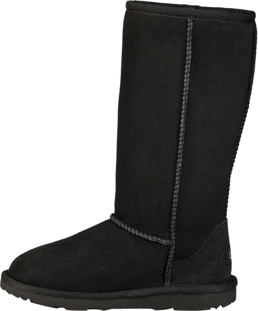 Children's UGG Classic Tall II Kids Boot, Black Twinface, large, image 3