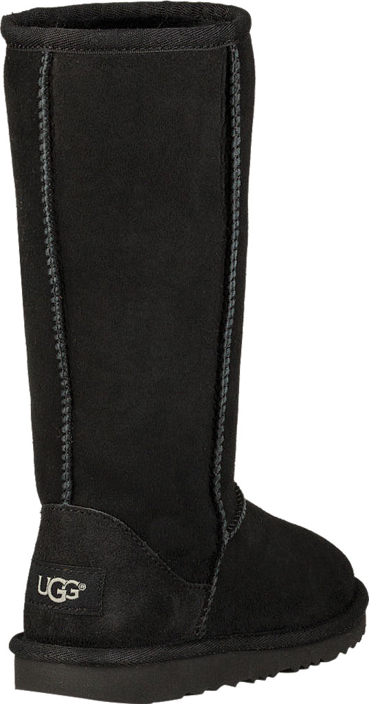 Children's UGG Classic Tall II Kids Boot, Black Twinface, large, image 4