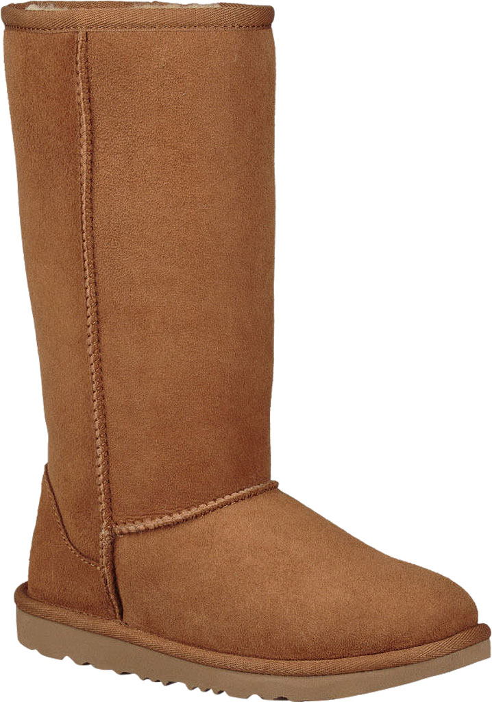 Children's UGG Classic Tall II Kids Boot, Chestnut Twinface, large, image 1