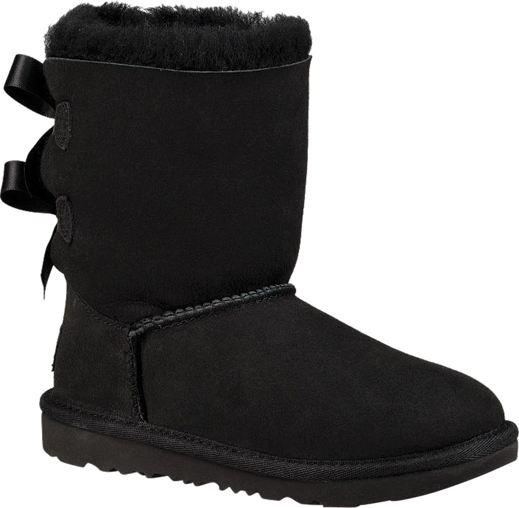 Children's UGG Bailey Bow II Kids Boot, Black Twinface, large, image 1