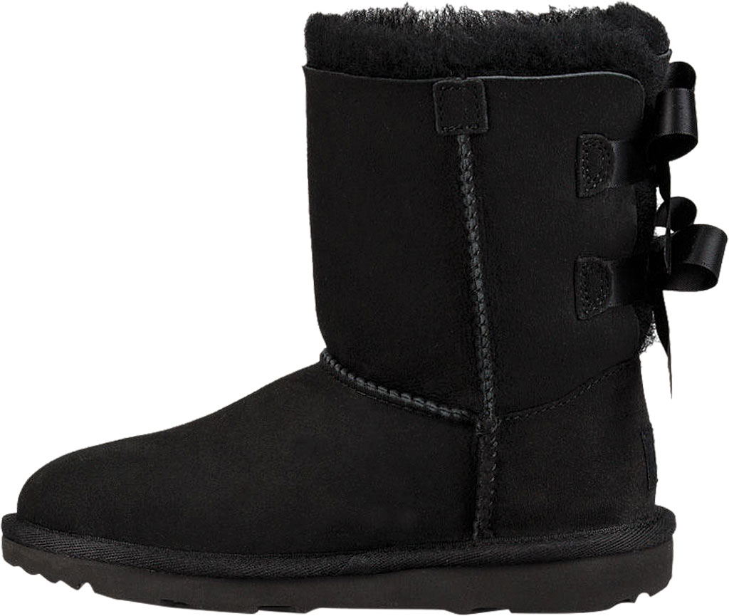 Children's UGG Bailey Bow II Kids Boot, Black Twinface, large, image 3