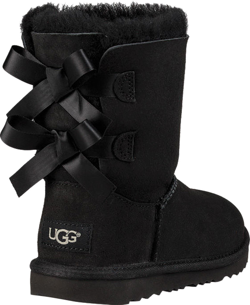 Children's UGG Bailey Bow II Kids Boot, Black Twinface, large, image 4