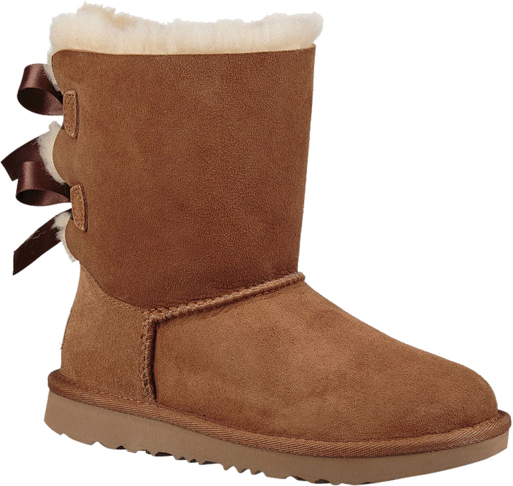 Children's UGG Bailey Bow II Kids Boot, Chestnut Twinface, large, image 1