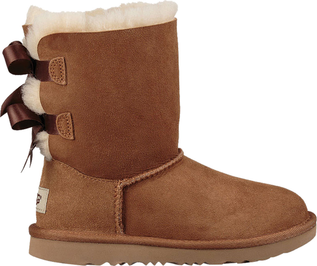 Children's UGG Bailey Bow II Kids Boot, Chestnut Twinface, large, image 2