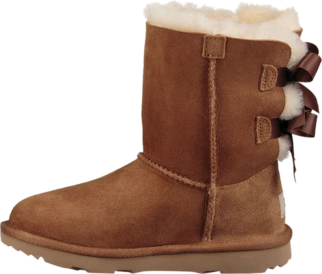 Children's UGG Bailey Bow II Kids Boot, Chestnut Twinface, large, image 3