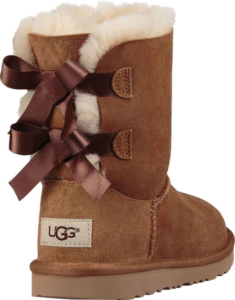 Children's UGG Bailey Bow II Kids Boot, Chestnut Twinface, large, image 4
