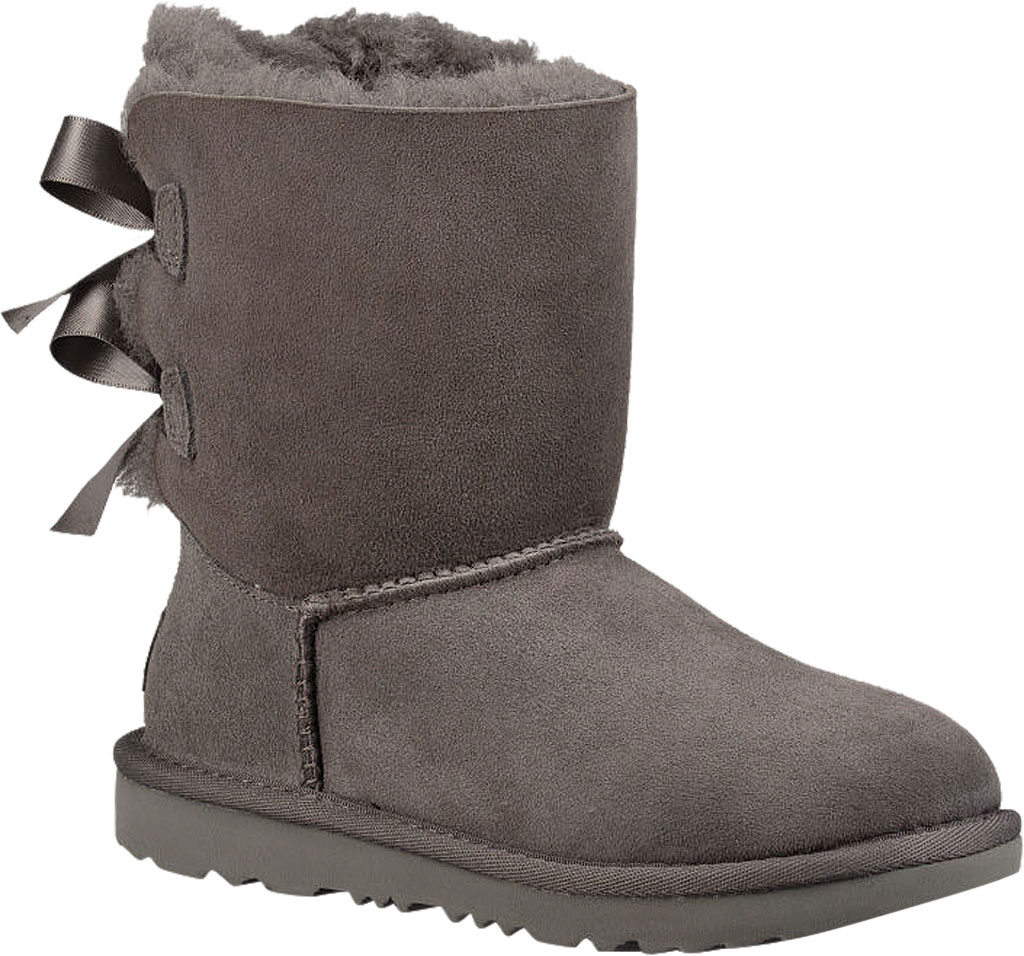 Children's UGG Bailey Bow II Kids Boot, Grey Twinface, large, image 1