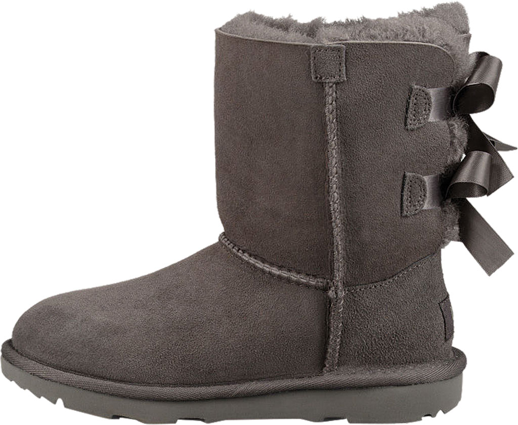 Children's UGG Bailey Bow II Kids Boot, Grey Twinface, large, image 3