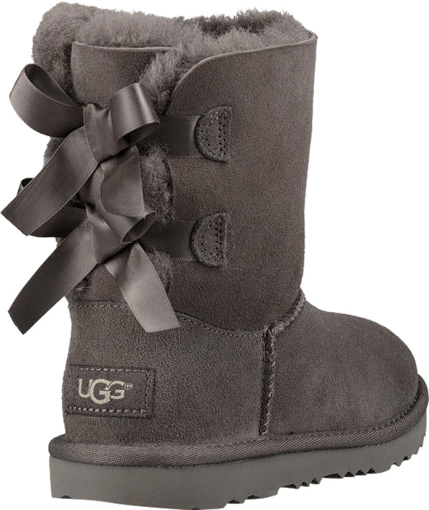 Children's UGG Bailey Bow II Kids Boot, Grey Twinface, large, image 4