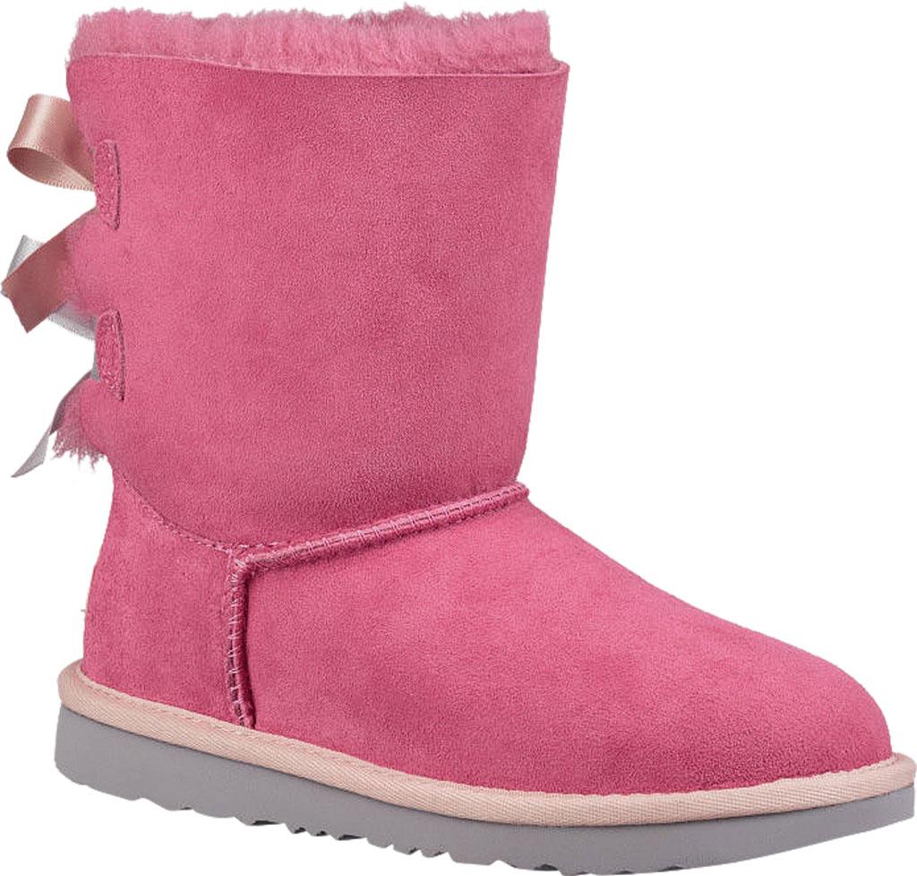 Children's UGG Bailey Bow II Kids Boot, Pink Azalea/Icelandic Blue Twinface, large, image 1
