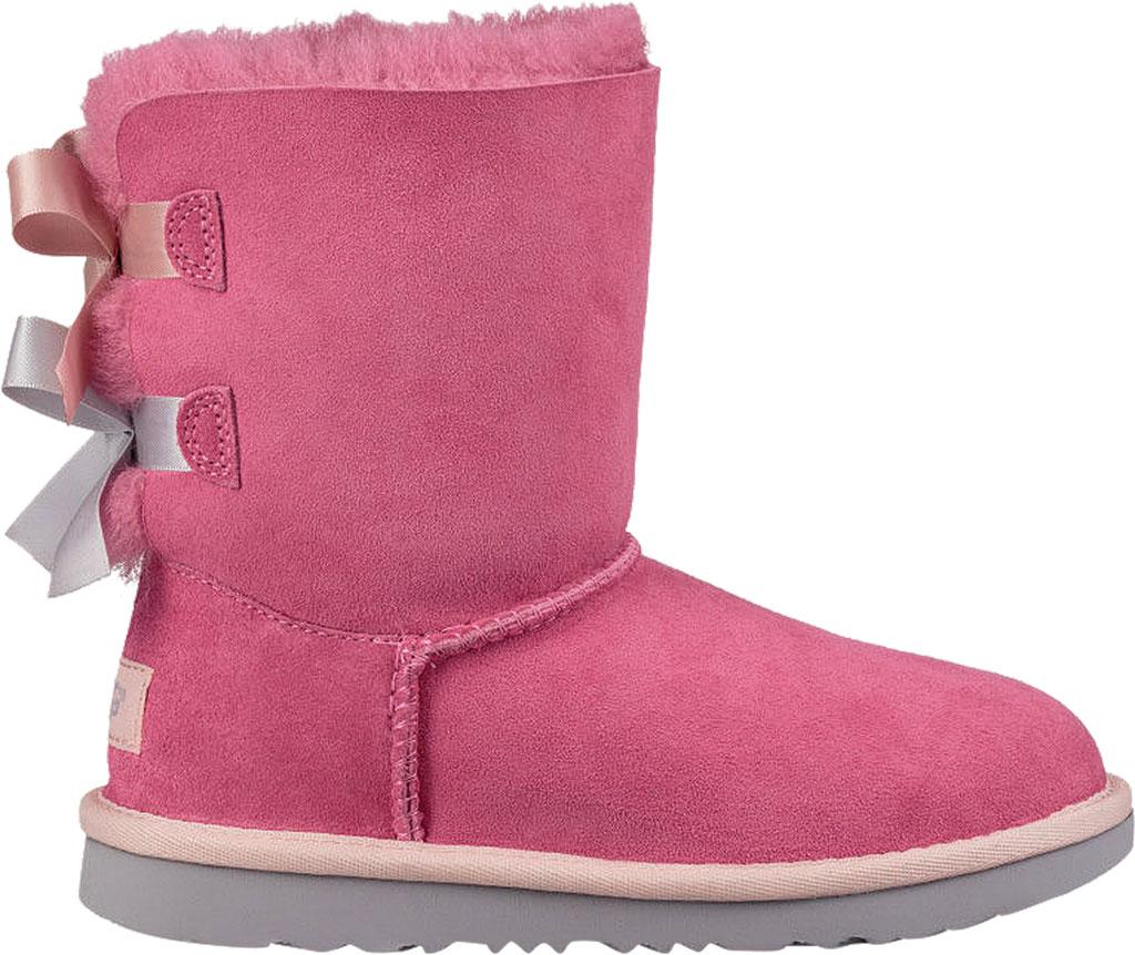 Children's UGG Bailey Bow II Kids Boot, Pink Azalea/Icelandic Blue Twinface, large, image 2
