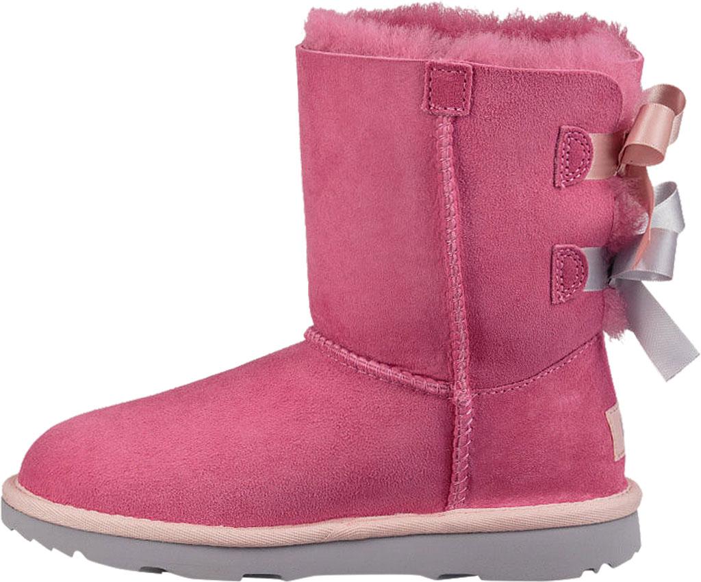 Children's UGG Bailey Bow II Kids Boot, Pink Azalea/Icelandic Blue Twinface, large, image 3