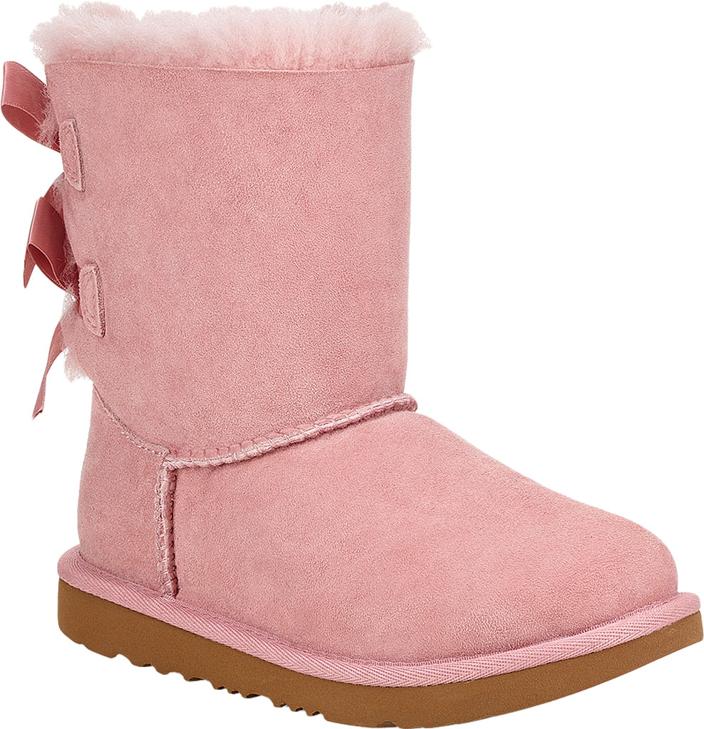 Children's UGG Bailey Bow II Kids Boot, Pink Crystal Twinface Sheepskin, large, image 1