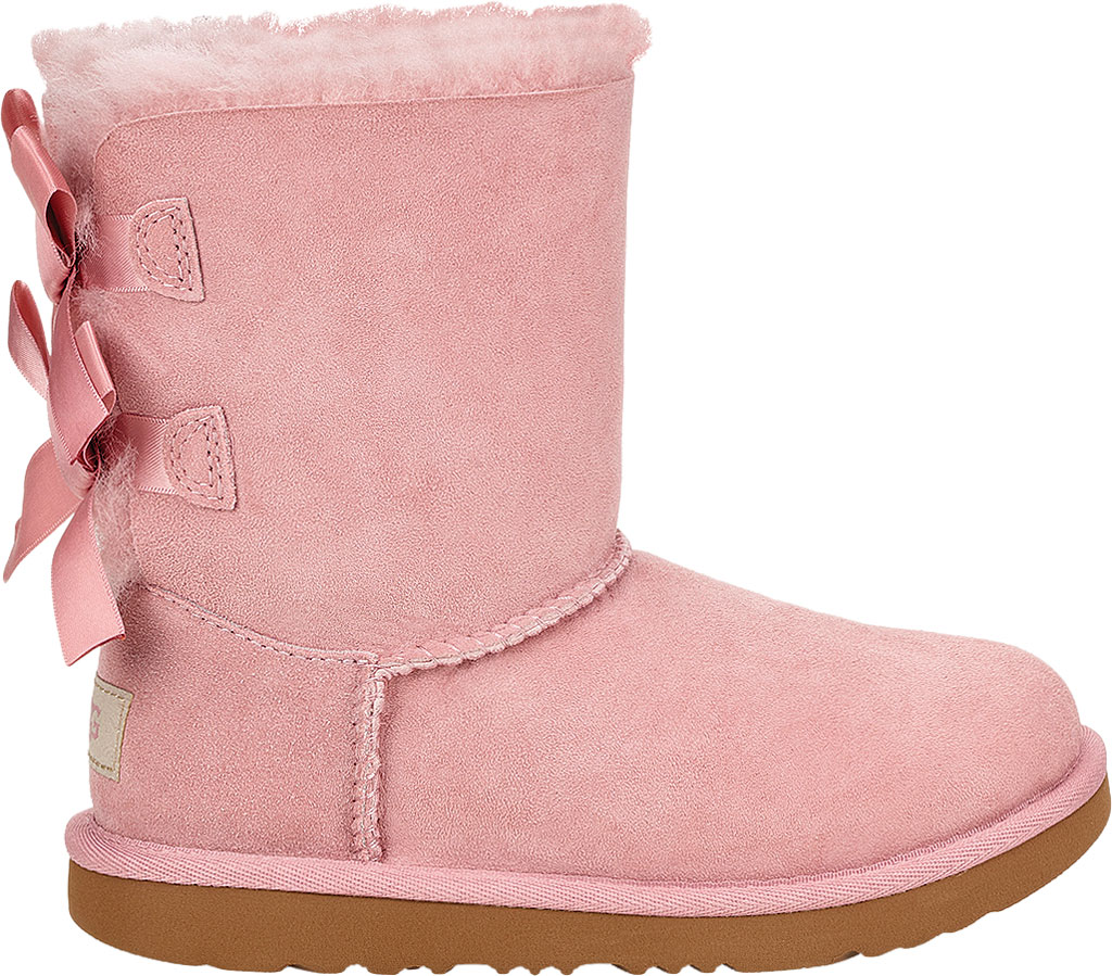 Children's UGG Bailey Bow II Kids Boot, Pink Crystal Twinface Sheepskin, large, image 2